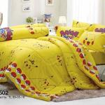 Bright Yellow Pikachu bedding set