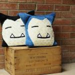 Classic Blue and Black Snorlax Pillow