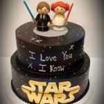 Fondant Star Wars Wedding Cake Topper