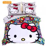 Hello Kitty Pop Art Inspired Bed Sheets