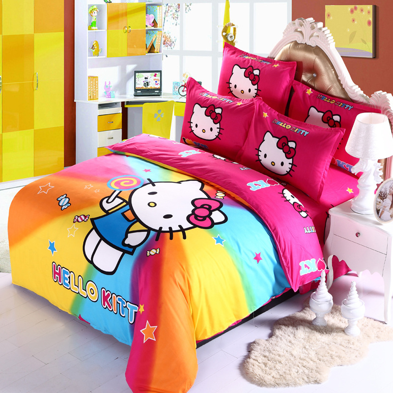 Brand-new Hello Kitty Rainbow Bed Sheets | Walyou VS94