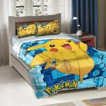 Pokemon Big Pika Twin or Full Comforter with Pillow Shams