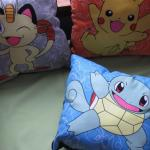Pokemon Character Pillows Pikachu, Meowth, Bulbasaur, Charmandar, Eevee and Squirtle