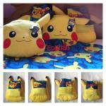 Pokemon Choose Pika 16-inch Character Pillow Fleece throw