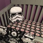 STAR WARS C3PO and R2D2 Sugar Skull Custom Made Fitted Crib