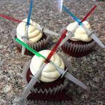 Star Wars Lightsaber Cupcake Picks Toppers