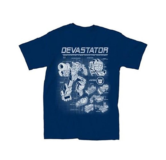 Transformers Devastator Blueprint T-Shirt