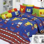 Twin Bedding set with Pikachu, Froakie and Fennekin
