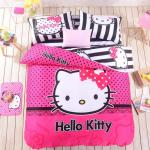 Black, White & Pink Hello Kitty Bedding