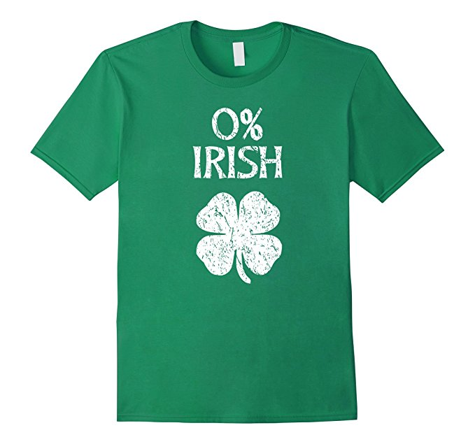 0% Irish St. Patrick's Day T-Shirt