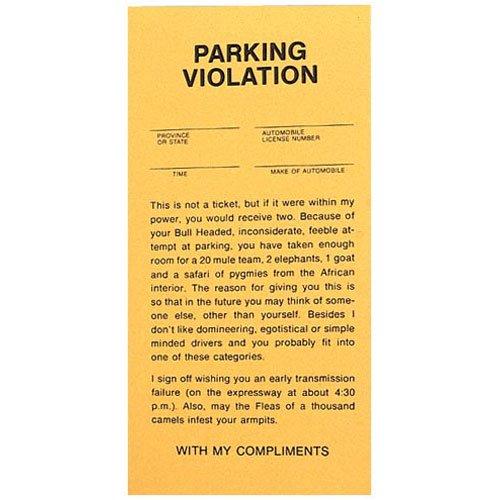 Fake Parking Ticket Prank