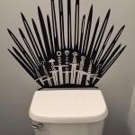 Game of Throne Parody Inspired Toilet Decal Iron Throne