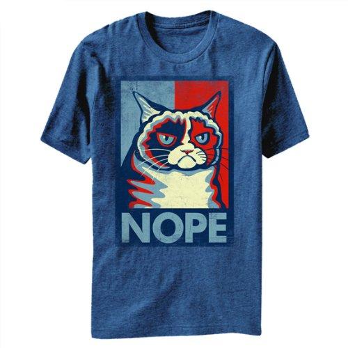 Grumpy Cat Nope Meme T-Shirt