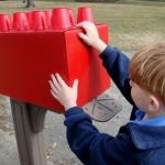 Lego block mailbox