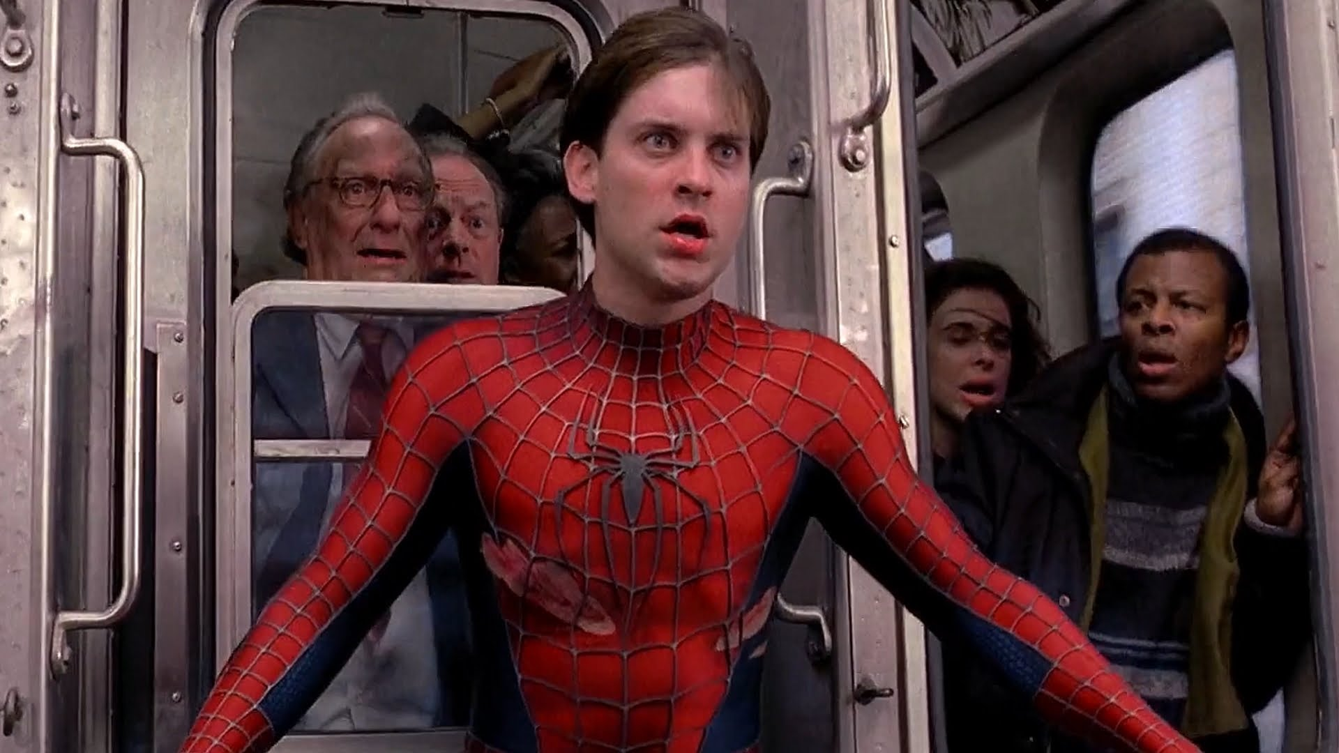 Spider-Man Train Scene