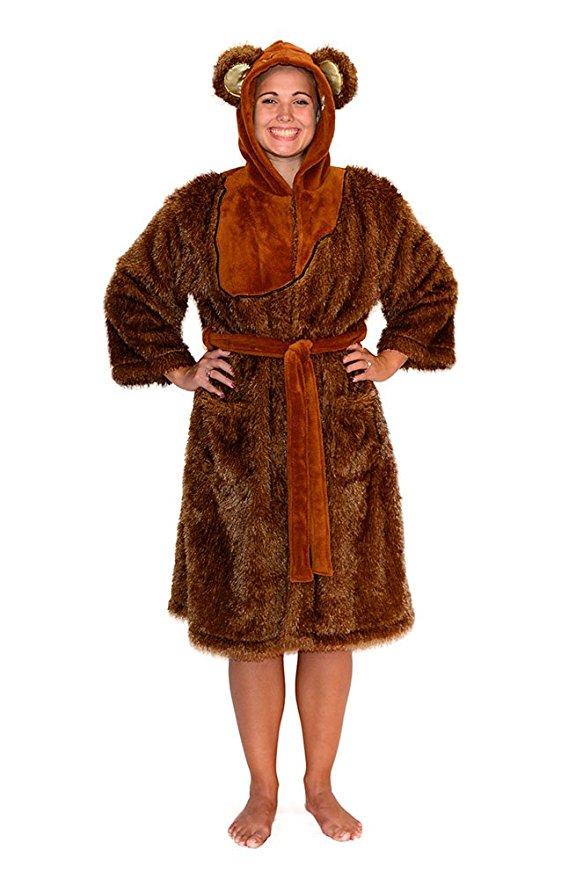 Star Wars Women's Ewok Fleece Bathrobe