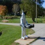 Wizard of Oz' Tinwoodman Mailbox