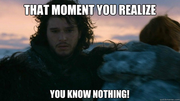 You Know Nothing Meme