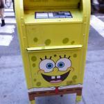 Nikelodeon X US Postal Service Sponge Bob Square Pants mailbox