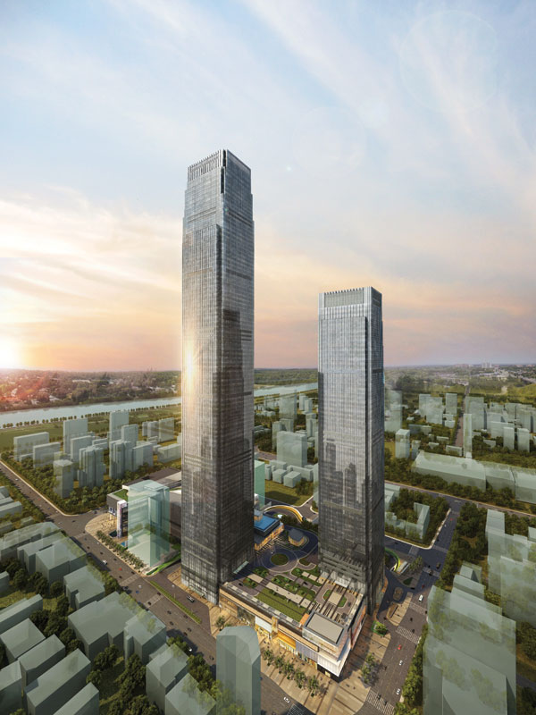Changsha IFS Tower T1 Simulation