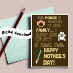 Printable Star wars Mother's day card 2017