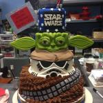 Star Wars tiered cake