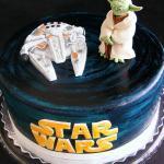 Yoda X Millennium Falcon Cake