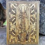 alien wood carving