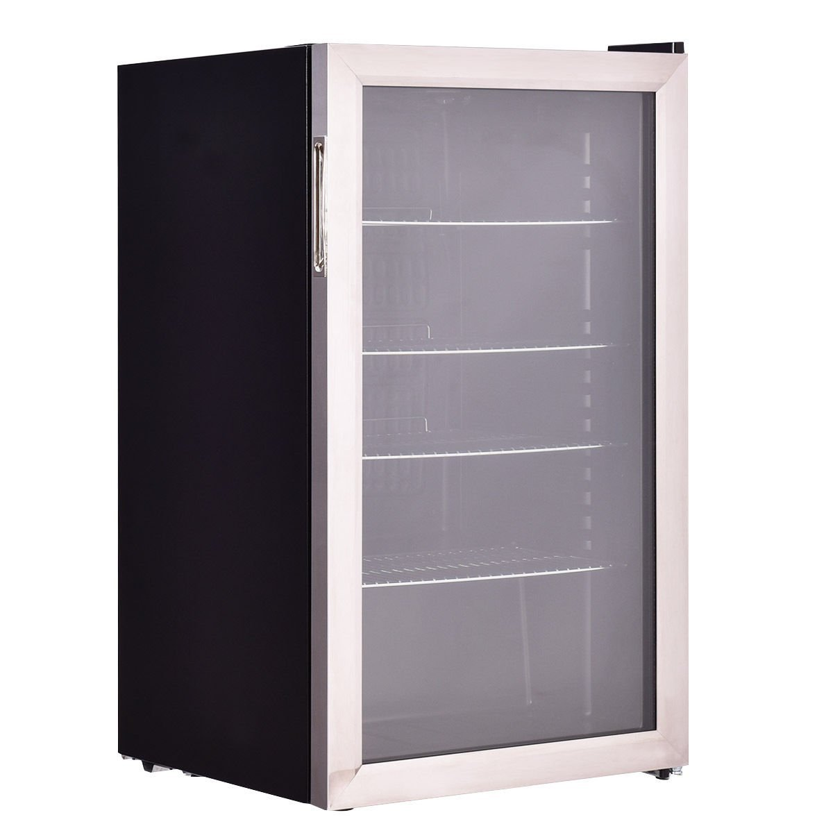 Costway 120 Can Beverage Refrigerator Beer Wine Soda Drink Beverage Cooler Mini Fridge