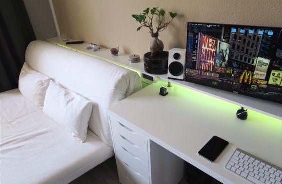 white gaming room