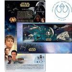 Star Wars The Force Awakens Official Souvenir Stamp Sheet