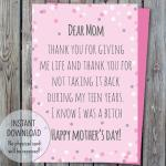 thank you mom Digital mother's day card