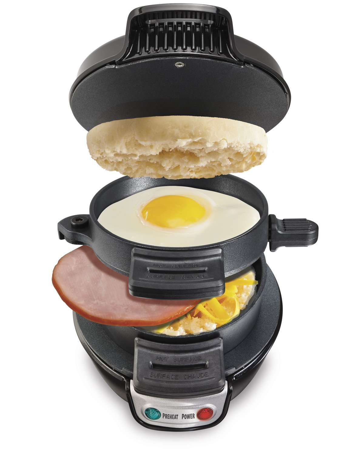 Hamilton Beach 25477 Breakfast Electric Sandwich Maker, Black