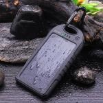 Dizaul 5000mAh Portable Solar Power Bank Waterproof:Shockproof:Dustproof Dual USB Battery Bank