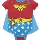 Wonder Woman Baby Girls' Costume Onesie with Cape