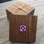 Block Oak Wood Character America Inspired Embellished Set Of 4 Wooden Drink Coaster