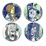 Geek Details Wizard of Oz Coaster Set