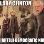 Hillary Bernie Game of Thrones