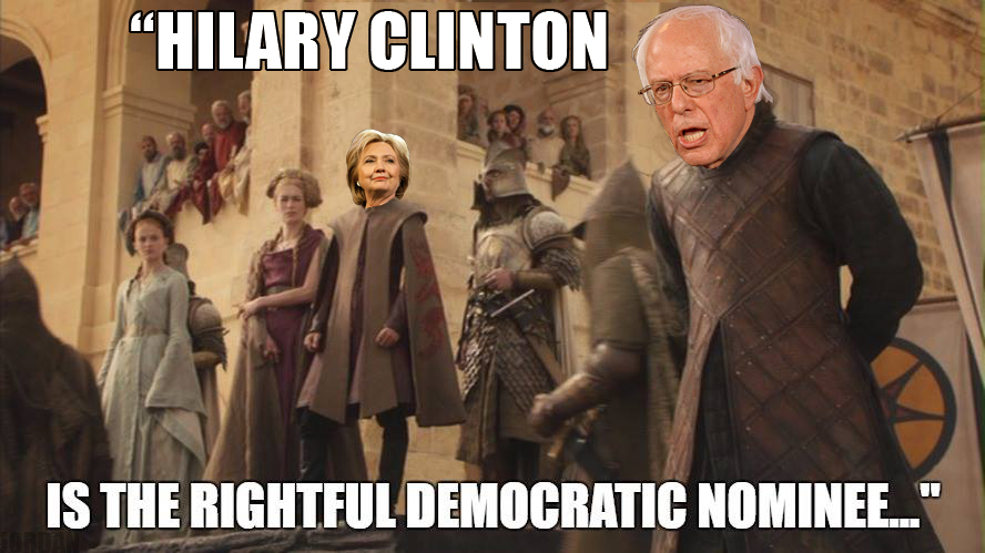 Hillary Bernie Game of Thrones