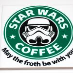 Star Wars Coffee May the Froth Be with You Ceramic Coasters