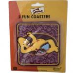 The Simpsons Homer drink Coasters set of 2