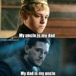 Uncles & Dads in Game of Thrones