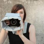 Cloak Bag Discreet Shoot-Through SLR/DSLR Camera Bag - Fog and Turquoise