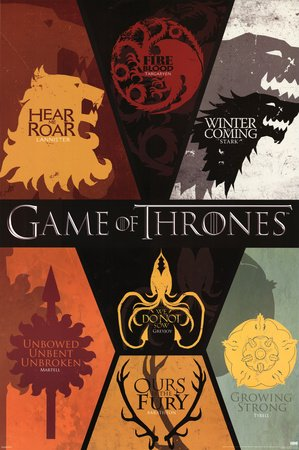 Game of Thrones House Sigils Poster
