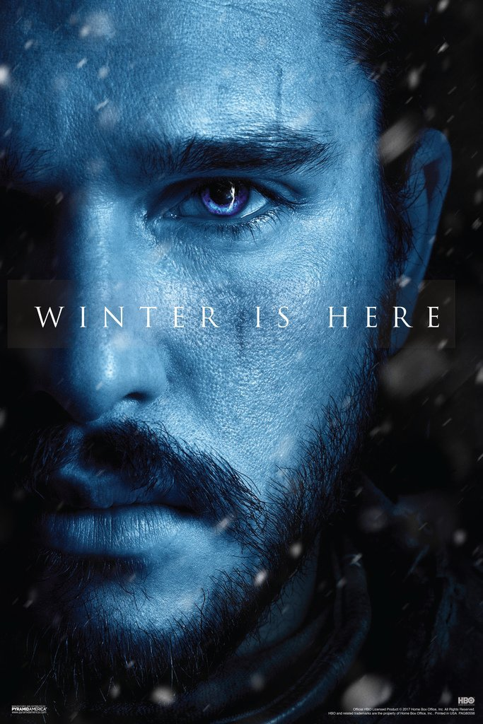 Game of Thrones Jon Snow Winter is Here Poster