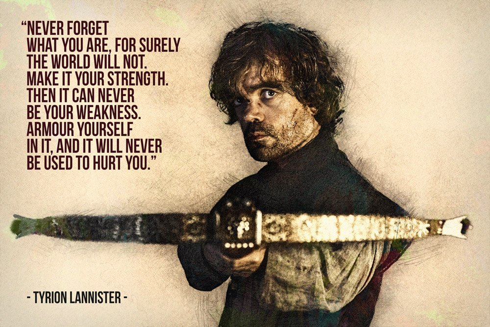 Game of Thrones Tyrion Quote poster