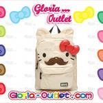 1pc Sanrio Loungefly Hello Kitty Mustache 3D Ears Large Backpack School bag Christmas