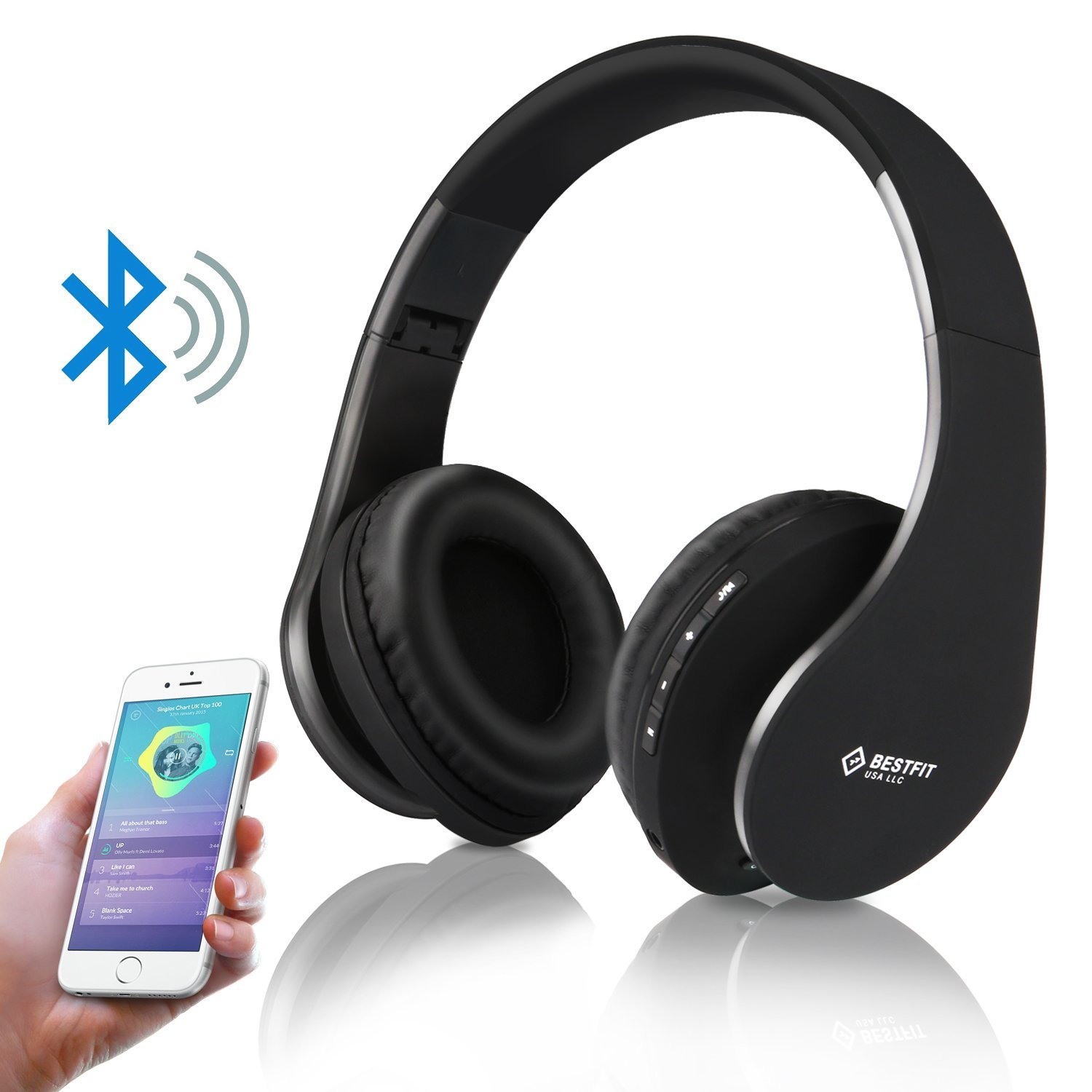 Bestfit Bluetooth Headphones With Microphone