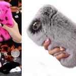 FLOVEME Rabbit Fur Fuzzy iPhone 8 Case
