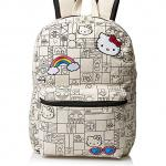 Hello Kitty Girls Natural Canvas 16 Backpack